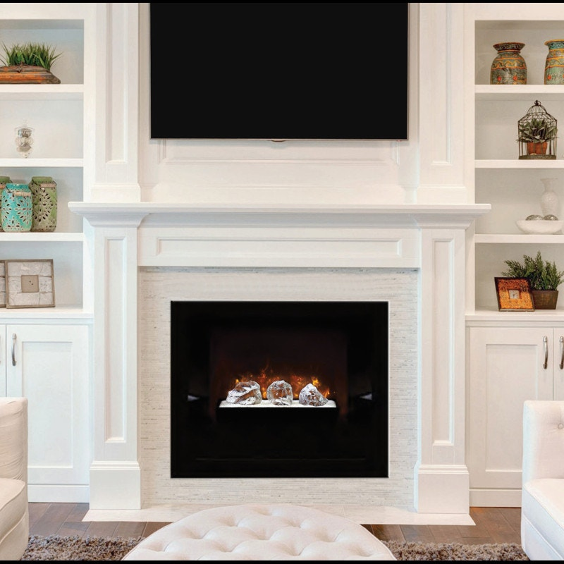 Wood Framed Electric Fireplace