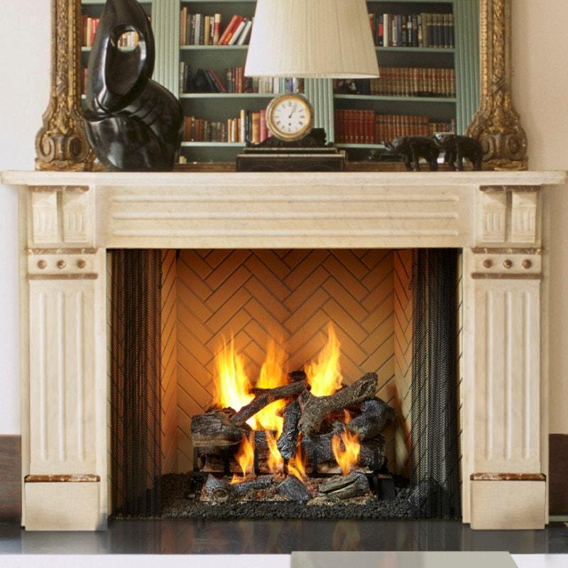 Wood Framed Wood Burning Fireplace