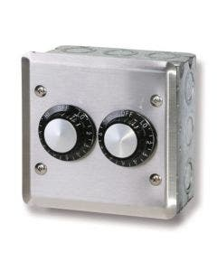 Infratech Dual Regulator Switch - Stainless Cover In-Wall Box 240V - 240V - 15A/3000W Max