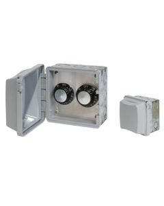 Infratech Dual Regulator Switch In-Wall - Weatherproof With Electrical Box 240V - 240V - 15A/3000W Max