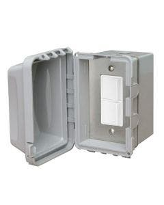 Infratech Single Duplex Switch With Surface Mount Weatherproof With Electrical Box - 20A Max