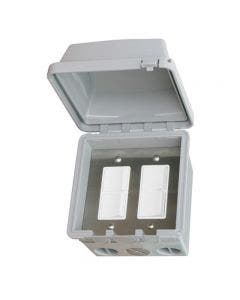Infratech Dual Duplex Switch With Surface Mount Weatherproof With Electrical Box - 20A Max