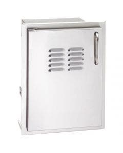 American Outdoor Grill 14-Inch Left Hinged Vertical Single Access Door With Tank Tray & Louvers - 20-14-SSDLV