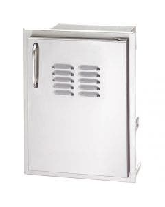American Outdoor Grill 14 Inch Vertical Right Hinge Single Access Door With Tank Tray And Louvers - 20-14-SS DRV