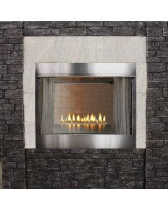 Empire Carol Rose Outdoor 24 Inch Outdoor Loft Burner and 36 Inch Stainless Steel Ventless Firebox - OLI24 / OP36FB2MF