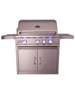 RCS Cutlass Pro 30-Inch Freestanding Gas Grill With Rear Infrared Burner & Blue LED Lights - RON30A/RONMC/RON30ALP