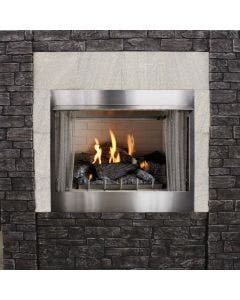 Empire Outdoor Gas Vent Free Firebox - 42 Inch Firebox With Harmony Log Kit