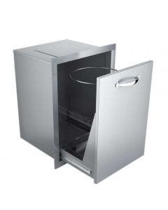 Sunstone Classic 20-Inch Roll-Out Trash Bin - A-TRHD- Drawer Open View