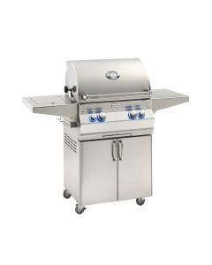 Fire Magic Aurora A430s 24-Inch Freestanding Gas Grill With Analog Thermometer, Rotisserie And Single Side Burner - A430s-8EAP-62/8EAN-62
