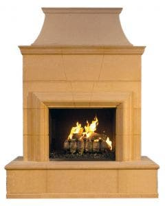 American Fyre Designs Cordova Vent-Free Outdoor Fireplace