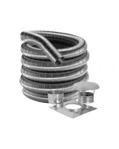 Duravent 6-Inch 304 Stainless Steel Chimney Liner Kit For Fireplace Inserts - 8DF304K