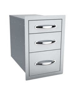 Sunstone 14-Inch Flush Triple Access Drawer - B-TD18- Front-Side View