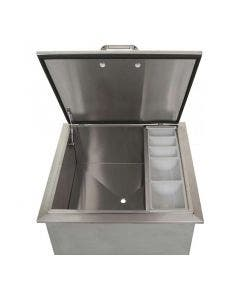 BBQ Direct Universal 18-Inch Drop-In Ice Bin Cooler With Condiment Tray
