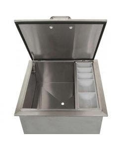 BBQ Direct Universal 25-Inch Drop-In Ice Bin Cooler With Condiment Tray