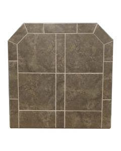Diamond Hearths Standard Or Corner Hearth Pad - Bianco Brown
