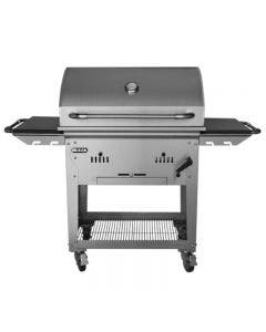 Bull 30-Inch Outdoor Products Built-In Bison Charcoal Stainless Steel Grill With Cart - 67531