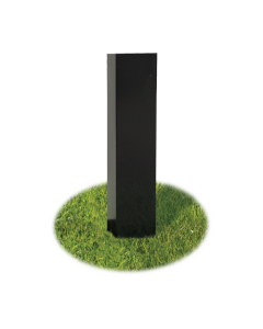 Broilmaster Black Painted Steel In Ground Post for P3SX Super Premium bundle - BL48G