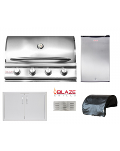 Blaze 5-Piece Outdoor Kitchen Package With BLZ-4LBM Built-In Grill -  BLZ-4LBM Package 1