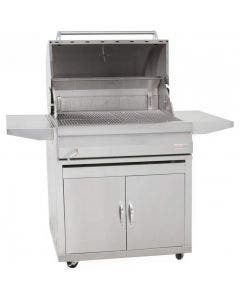 Blaze 32-Inch Freestanding Stainless Steel Charcoal Grill With Adjustable Charcoal Tray - BLZ-4-CHAR /BLZ-4-CART