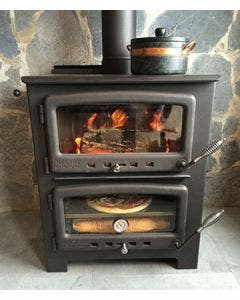 Nectre N350 Wood Burning Stove And Oven With Water Jacket -  N350W