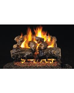 Peterson Real Fyre Vented Gas Log Set - Burnt Rustic Oak