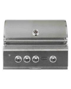 Coyote S-Series 30-Inch 3 Burner Built-In Gas Grill With Rapidsear Infrared Burner & Rotisserie -  C2SL30