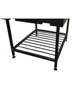 Chicago Brick Oven 1000 Steel Adjustable Legs with Wood Storage Rack