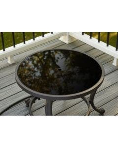 """The Outdoor GreatRoom Company 20"""" Round Black Glass Burner Cover"""
