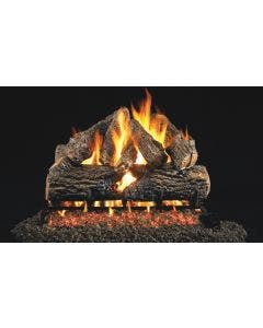 Peterson Real Fyre Vented Gas Log Set - Charred Oak ANSI