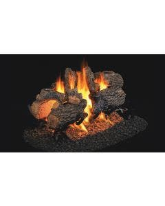 Peterson Real Fyre See Through Vented Gas Log Set - Charred Oak - ANSI