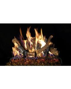 Peterson Real Fyre Vented Gas Log Set - Charred Oak Stack