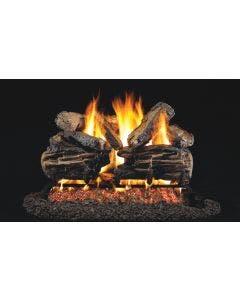 Peterson Real Fyre Vented Gas Log Set - Charred Split Oak ANSI