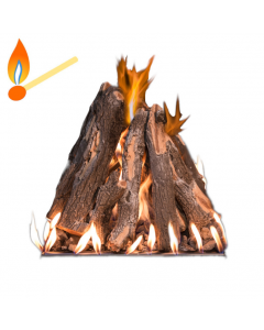 Grand Canyon TPS Tee-Pee Stack Propane Gas Fire Pit Burner Kit -Match Lit - TPS-LP