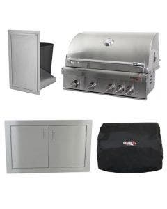 Dragon Fire Grills 32-Inch 4-Piece Built-In Grill Package