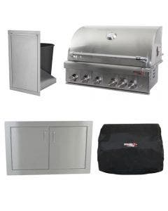 Dragon Fire Grills 40-Inch 4-Piece Built-In Grill Package
