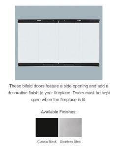 Majestic Original Bi-fold Glass Doors With Black Trim - For Biltmore 42 Inch