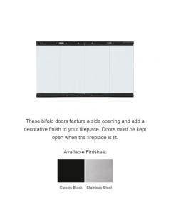 Majestic Original Bi-fold Glass Doors With Black Trim - For 42 Inch