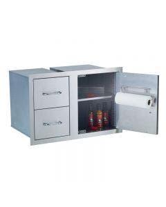 Bull 38-Inch Outdoor Pantry Insert Fits Inside Door Drawer Combo - 55877
