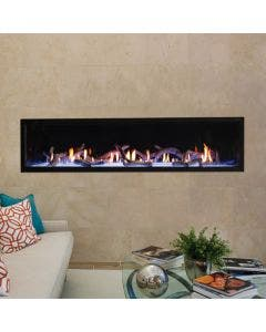 Empire Boulevard Direct-Vent Linear Contemporary Fireplace- 72-inch
