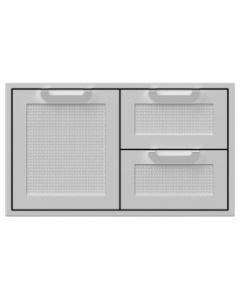 Hestan 36-Inch Double Drawer And Single Storage Door Combo - AGSDR36