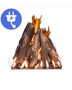 Grand Canyon RTS Tall Stack Natural Gas Fire Pit Burner Kit - Electronic Ignition - RTS-WBECS-NG
