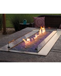 Empire Carol Rose Outdoor 48-Inch Gas Fire Pit Burner With Fire Glass - OL48TP10P / DG1