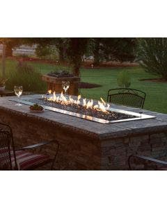 Empire Outdoor 60-Inch Fire Pit Burner With Fire Glass - OL60TP10 / DG1