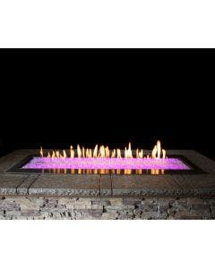 Empire 60-Inch Gas Fire Pit Burner With LED Lights And Fire Glass - OL60TP18 / DG1