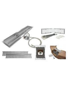 Firegear Linear Paver Ready 48-Inch H-Burner Fire Pit Kit With Push Button Flame Sensing Ignition - LOF-36LHTMSIN-PK