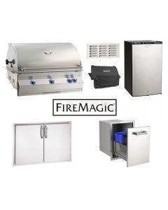 Fire Magic 6-Piece Outdoor Kitchen Package With Aurora A790i Grill - Aurora 790i Package 1