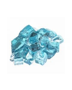 Phoenix Precast Products 10LBS Pacific Blue Fire Glass - Glass_Pacific Blue