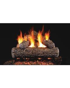 Peterson Real Fyre Vented Gas Log Set - Golden Oak - Stainless Steel