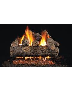 Peterson Real Fyre Vented Gas Log Set - Golden Oak Designer Plus