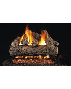 Peterson Real Fyre Vented Gas Log Set - Golden Oak Designer Plus - Stainless Steel